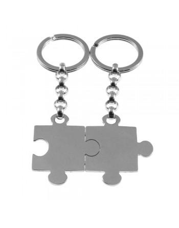 Portachiavi puzzle coppie personalizzabile con incisione prt0180