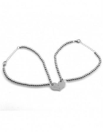 Bracciale con cuore che si divide per coppie o fidanzati con incisione bcc2663