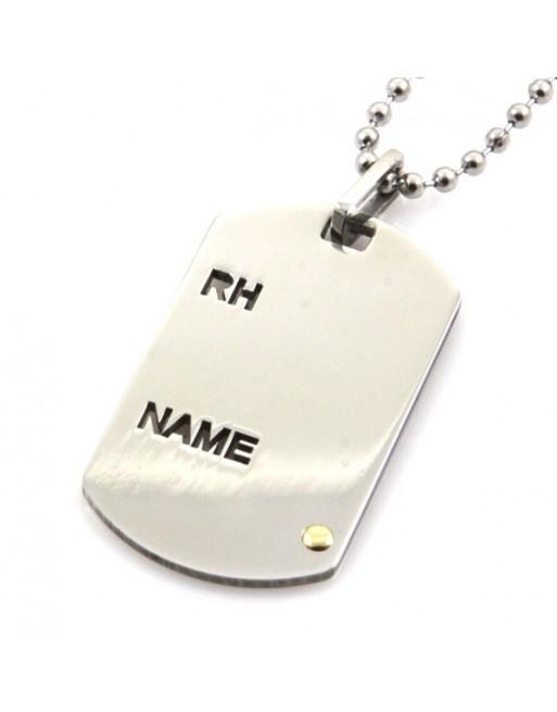 Collana piastra militare uomo pesonalizzabile con incisione cll0600