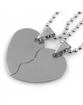 Collana con cuore che si divide coppie e fidanzanti personalizzabile cll0794