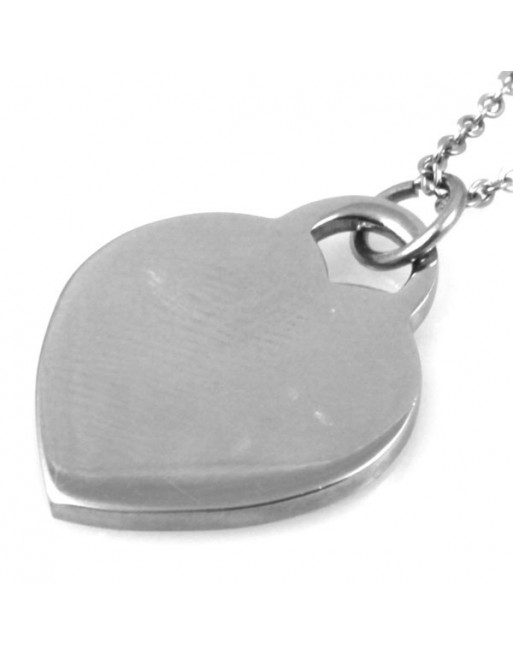 Collana con ciondolo cuore donna personalizzabile con incisione cll0795