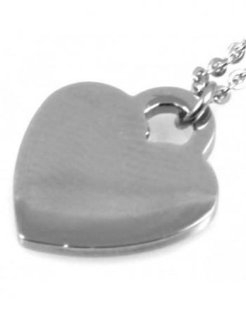 Collana con ciondolo cuore donna personalizzabile con incisione cll0797