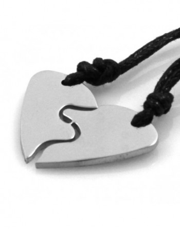 Collana cuore chi spezza coppie fidanzati personalizzabile con incisione cll0973
