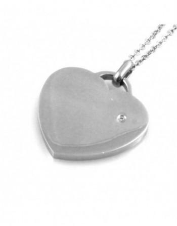 Collana donna cuore con strass in acciaio personalizzabile con incisione cll1423