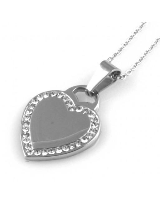 Collana donna con cuore personalizzabile con incisione cll1437
