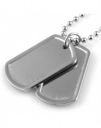 Collana uomo doppia piastra militare personalizzabile con incisione cll1440