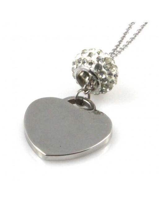 Collana con ciondolo cuore donna personalizzabile con incisione cll1497