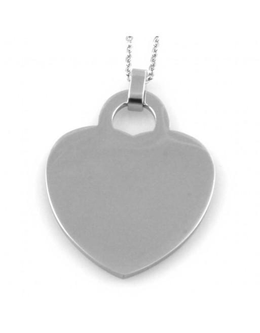 Collana con ciondolo cuore donna personalizzabile con incisione cll1641