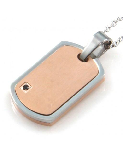 Collana uomo medaglia piastra personalizzabile con incisione cll1832
