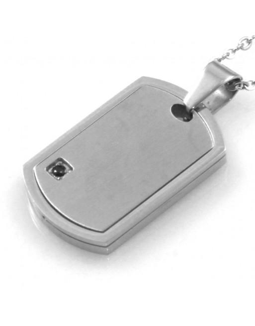 Collana uomo medaglia piastra personalizzabile con incisione cll1833