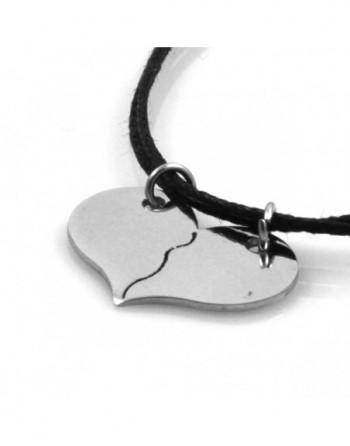 Collana cuore chi spezza coppie fidanzati personalizzabile con incisione cln0112