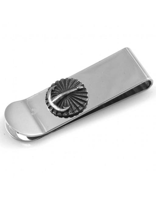 Fermasoldi uomo ancora personalizzabile con incisione in acciaio fsl020