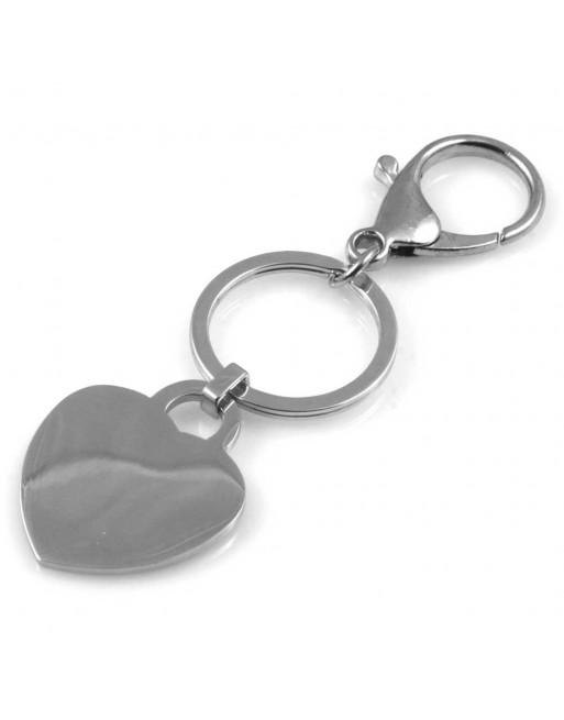 Portachiavi donna cuore personalizzabile con incisione prt0126