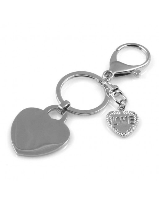 Portachiavi donna cuore personalizzabile con incisione prt0127