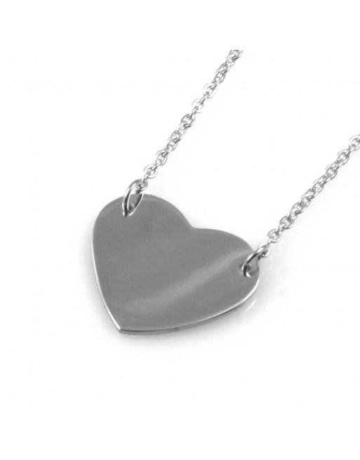 Collana con ciondolo cuore donna personalizzabile con incisione cll1544