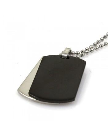 Collana uomo doppia piastra militare personalizzabile con incisione cln0184