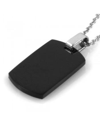 Collana uomo ciondolo piastra personalizzabile con incisione cll0713
