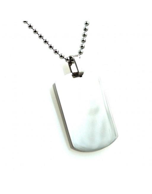 Piastra militare collana uomo personalizzabile con incisione cln0198