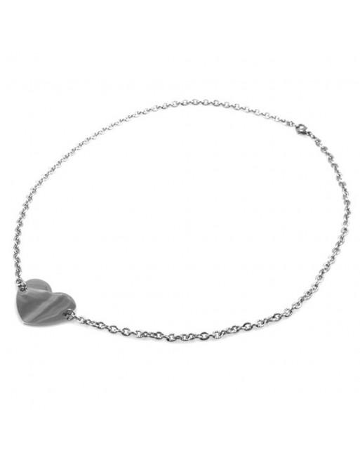 Collana cuore donna personalizzabile con incisione in acciaio cll0792