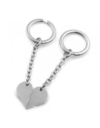 Portachiavi per coppie fidanzati con cuore che si spezza prt0248