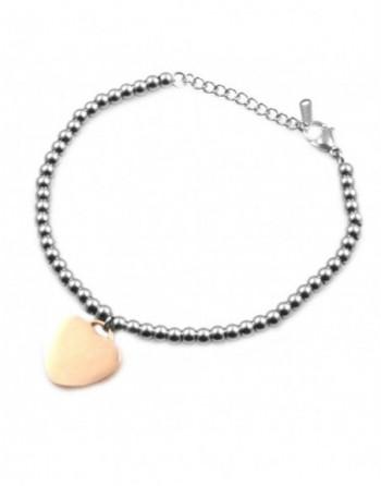 Bracciale con cuore donna personalizzabile con incisione bcc0031