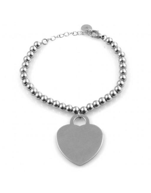 Bracciale donna cuore personalizzabile con incisione bcc2140