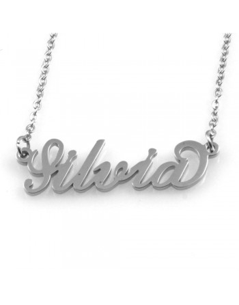 collana con nome Silvia - col1799
