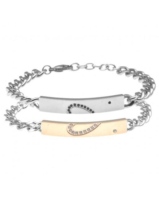 bracciali coppia per fidanzati acciaio bcc2593