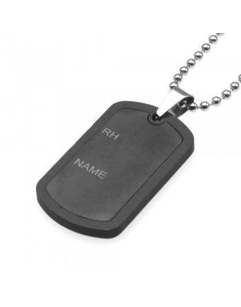 Collana piastra militare uomo acciaio cln0183