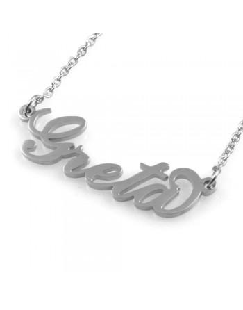 collana con nome Greta in acciaio da donna - cll1785