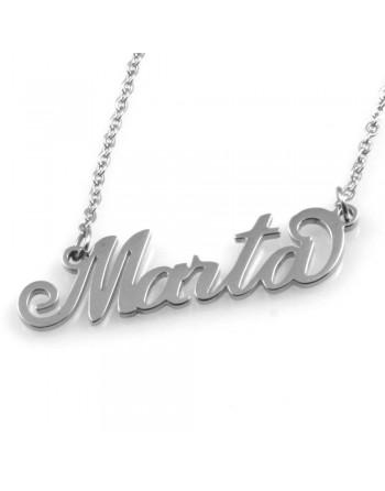 collana con nome Marta in acciaio col1791